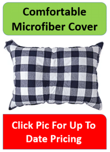 black and white checkered pillow