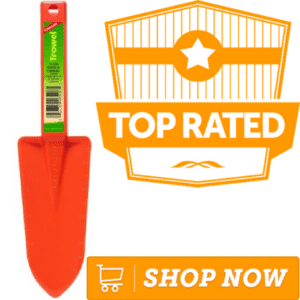 orange plastic trowel