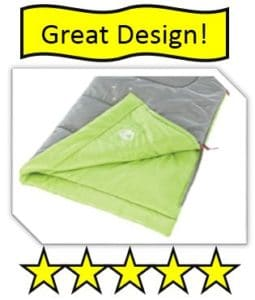 Coleman Illumi-Bug Youth Sleeping Bag - best kids sleeping bags