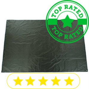 green ground tarp for camping