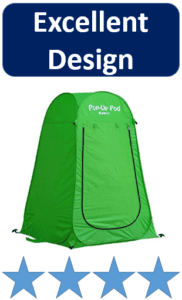 green pop up tent