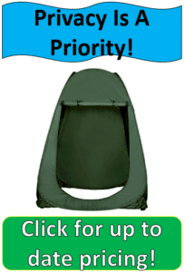green floorless shower tent