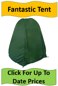 army green changing room tent