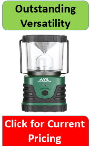 green AYL outdoor lantern