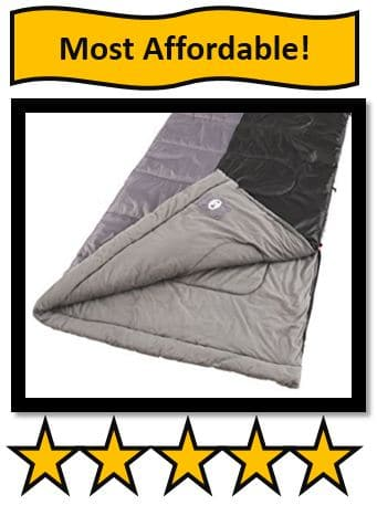 COLEMAN BISCAYNE BIG AND TALL WARM WEATHER SLEEPING BAG - on list of best large sleeping bags