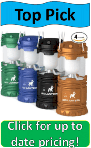 four colored camping lanterns