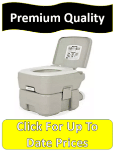 single gray portable toilet