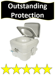 gray portable toilet