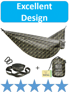 camo hammock, bag and straps
