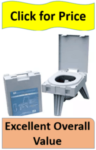 three legged toilet suitcase