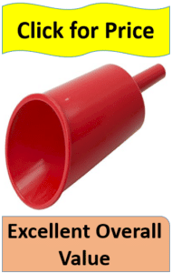 plastic red fuel funnel