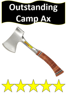 wood handle steel camping hatchet