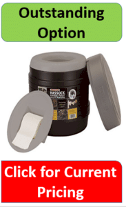 Black and gray portable toilet