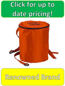 orange canister carrying case