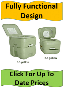 two portable camping toilets