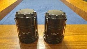 pair of black vont led lanterns