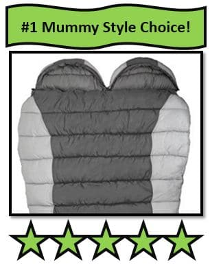 Winterial Double Mummy Sleeping Bag - best 2 person mummy sleeping bag