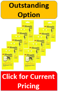 ten yellow mosquito patch packets