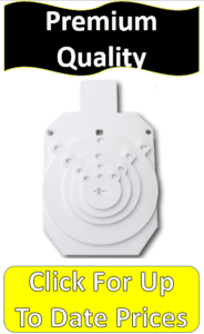 white steel shooting targets