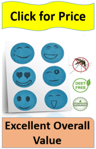 blue smiley face mosquito patches