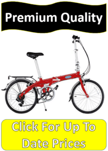 red specialty folding bicycle