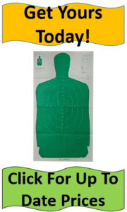 green silhouette target