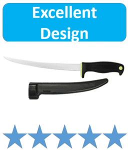 fillet knife with plastic sheath