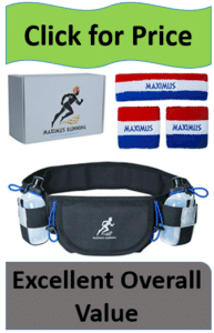 running pouch and patriotic headbands