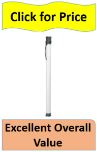 white rod tube