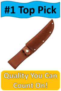 brown leather knife
