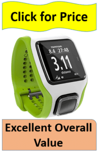 green and white runner watch