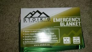 packaged Stoik'd emergency blanket