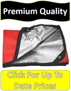 red heavy duty thermal blanket