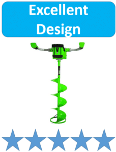 green electric ice fishing auger