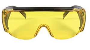 yellow shade shooting glasses