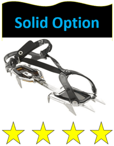 attachable crampon against while background