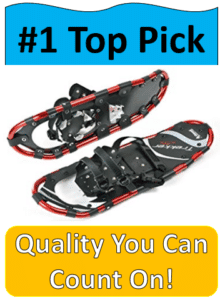 pair red and black snowshoes