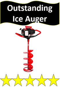 red gas powered ice auger