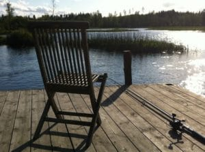 Fishing Chair on Dock