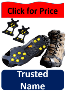 cleated shoes and 2 crampons