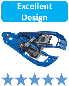 pair of blue snowshoes