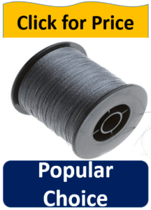 spool gray kevlar fishing line