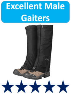 pair of 5 star rocky mountain boot gaiters