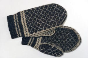 old pair winter mittens