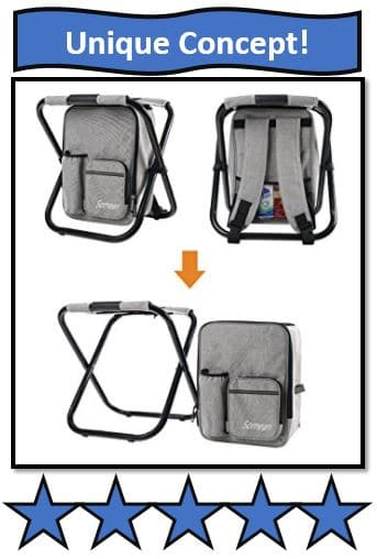 Soonyeah Multi-Function Backpack & Foldable Chair with Cooler