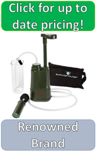 pump powered water filter