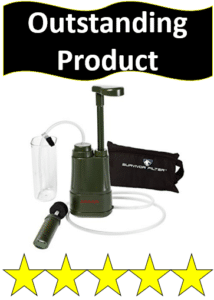 brown survival water filter