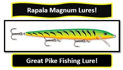Rapala Magnum Lures - Great Northern Pike Fishing Lure