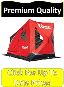 red Eskimo Evo ice fishing shelter
