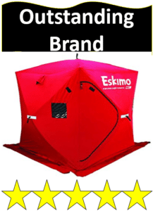 red Eskimo ice fishing shelter